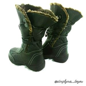 Blondo Black Leather Winter Boots
